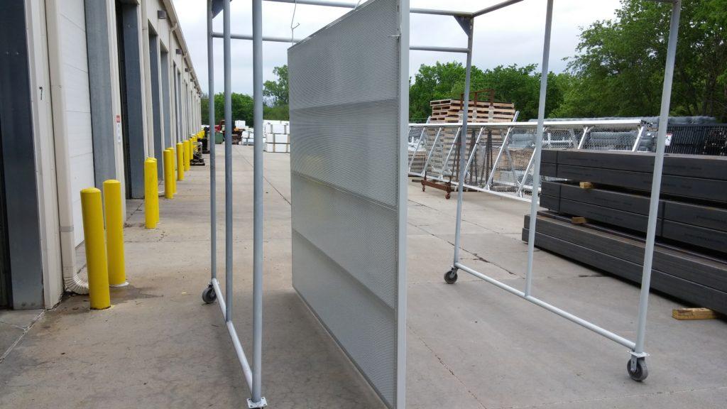 White powder coated perforated screening